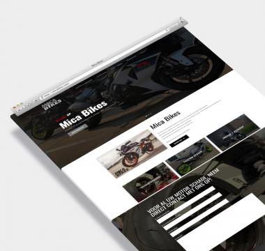 Mica Bikes wordpress website op maat
