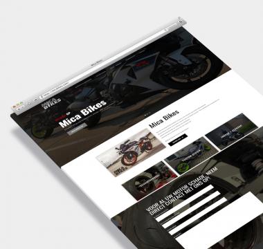Mica Bikes wordpress website op maat