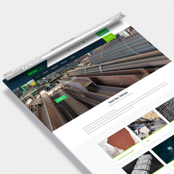 Wordpress website op maat, ned-rec metals Nederland