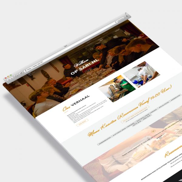 Sari.nl website voorbeeld